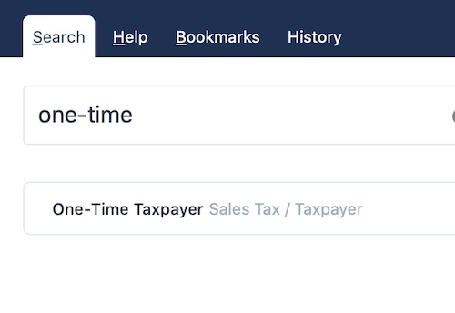 You can use the search feature to find tagged taxpayers